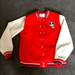50's style red jacket from Justice